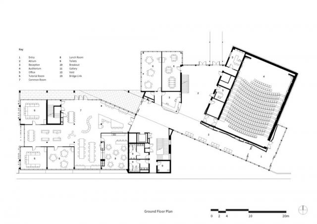 Trinity College Gateway Building | Design: McIldowie Partners | Ground Floor | Builtworks.com.au