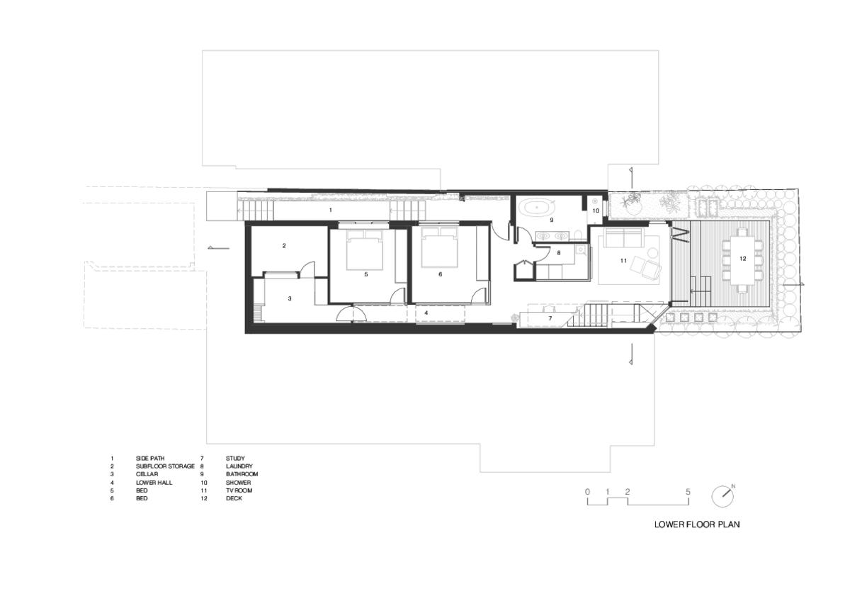 Doorzien House | Design: BIJL Architecture | Lower Ground Floor Plan | Builtworks.com.au